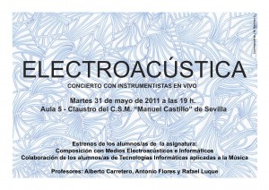 Concierto  estrenos del alumnado de Composicin con Medios Electroacsticos