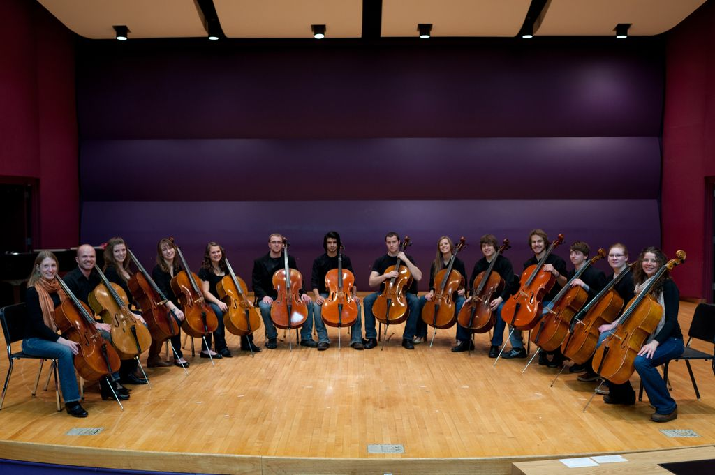 Conjunto de violonchelos de La Universidad Estatal de Montana.