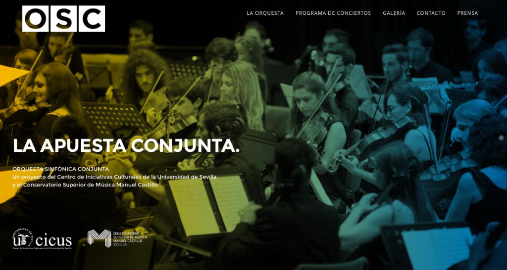 Página web de la Orquesta Sinfónica Conjunta (OSC)